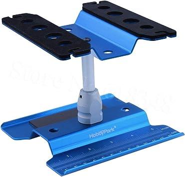 ARUNDEL SERVICES EU Azul Estación de reparación de Metales Puesto de Trabajo Plataforma de Montaje para 1/10 1/8 RC Car Traxxas TRX-4 Axial SCX10 ...
