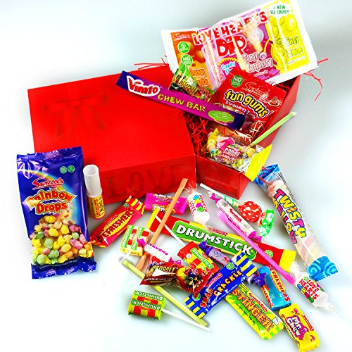 The Best Ever Retro Sweets LOVE Selection Box - The Original Sweet Shop in a Box! - The Perfect Valentine Gift - By Moreton Gifts!