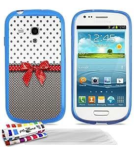 """MUZZANO cubierta suave Ultra-Slim Azul para Samsung I8190 alta calidad con motivos exclusivos originales Pin encima de 3 protectores de pantalla transparente """"UltraClear"""" PEN 1 y 1 PAÑO MUZZANO OFRECIDOS"""
