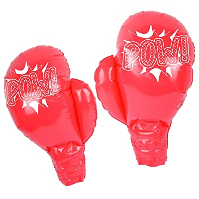 Rimi Hanger Boys Inflatable Blow Up Boxing Gloves 39cm Kids Book Week Day Toys Accessories One Size (Pack of 1): Toys & Games