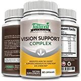 Vision Support Complex - Maximum Strength- Lutein, Bilberry, Taurine, Lycopene, Quercetin, Minerals, Best Vitamins for Eye Health Supplement from Tallwell Nutrition, 30 Day Complete Supply