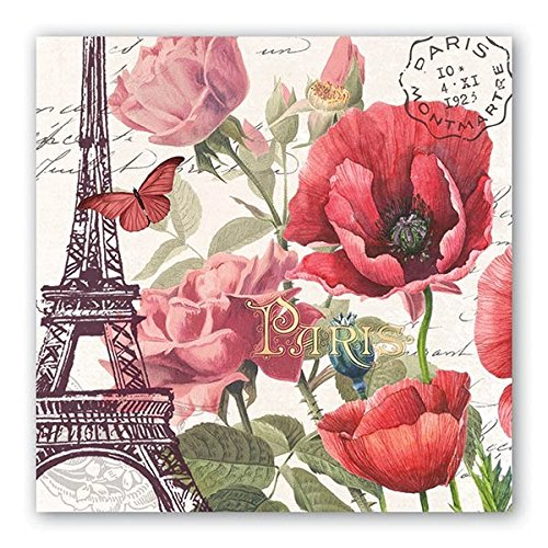 (Michel Design Works 20 Count 3-Ply Paper Luncheon Napkins, Toujours Paris)