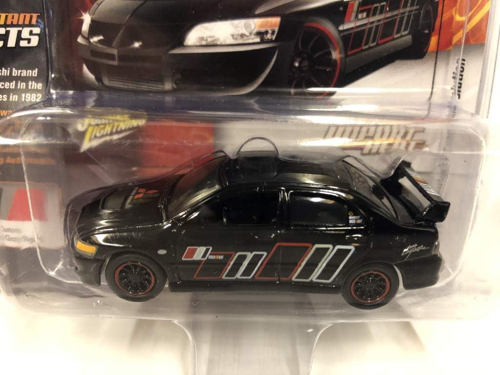 Johnny Lightning Mitsubishi Lancer Evo 04 Negro Con Carbono Fibra JLCP7175 1//64
