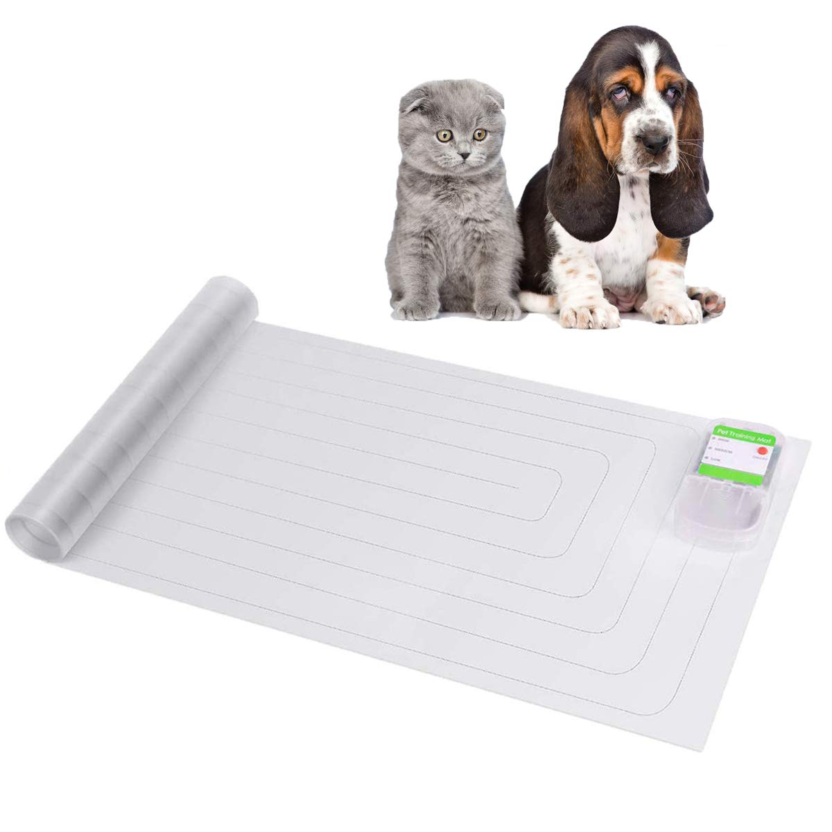 Plenmor Scat Cat Mat, Electronic Indoor Pet Training Mat for Dog Cat - Keep Dogs Pets Safely Off Furniture 12x60 Inch by Plenmor