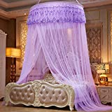 Lustar Mosquito Net Bed Canopy Children Fly Insect Protection Indoor Decorative Height 280cm Top Diameter 1.2m,Purple