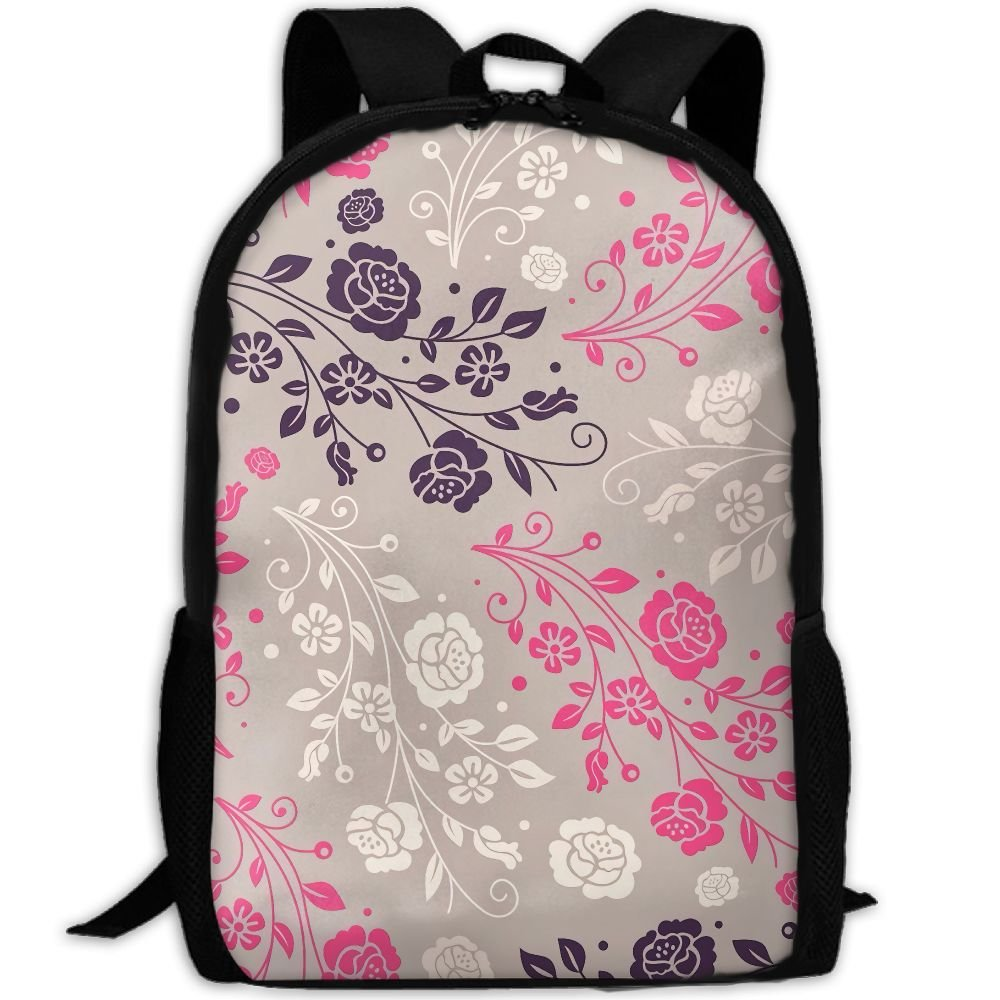 OIlXKV Beautiful Little Flower Print Custom Casual School Bag Backpack Multipurpose Travel Daypack For Adult
