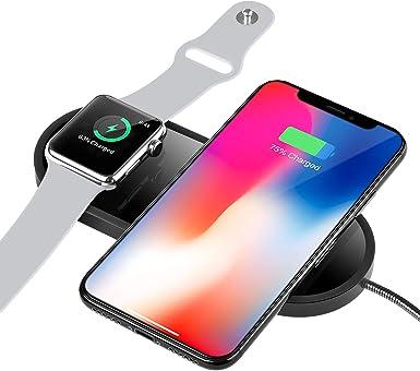 Sararoom Cargador inalámbrico para iPhone 88 PlusX y Apple