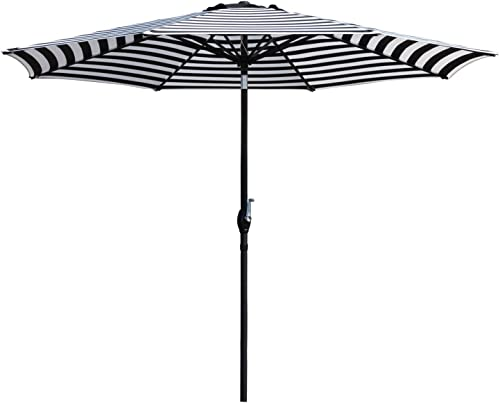 Flamaker 9 FT Patio Umbrella Tilts Outdoor Umbrella Picnic Table Umbrella Pool Umbrella