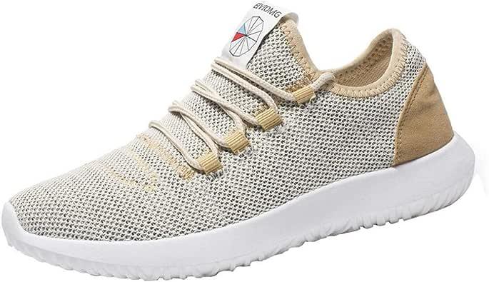 Zapatillas Running Hombre,Logobeing Zapatillas Planas Redondas y Transpirables con Malla para Hombre Zapatos Casuales Zapatos de Cordones: Amazon.es: Zapatos y complementos
