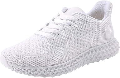 Moda Pareja Malla Calzado Transpirable,ZARLLE Ligero Antideslizante Zapatos para Correr,Salvaje Zapatos Deportivos,2019 Zapatos de Cordones Zapatillas de Running: Amazon.es: Ropa y accesorios