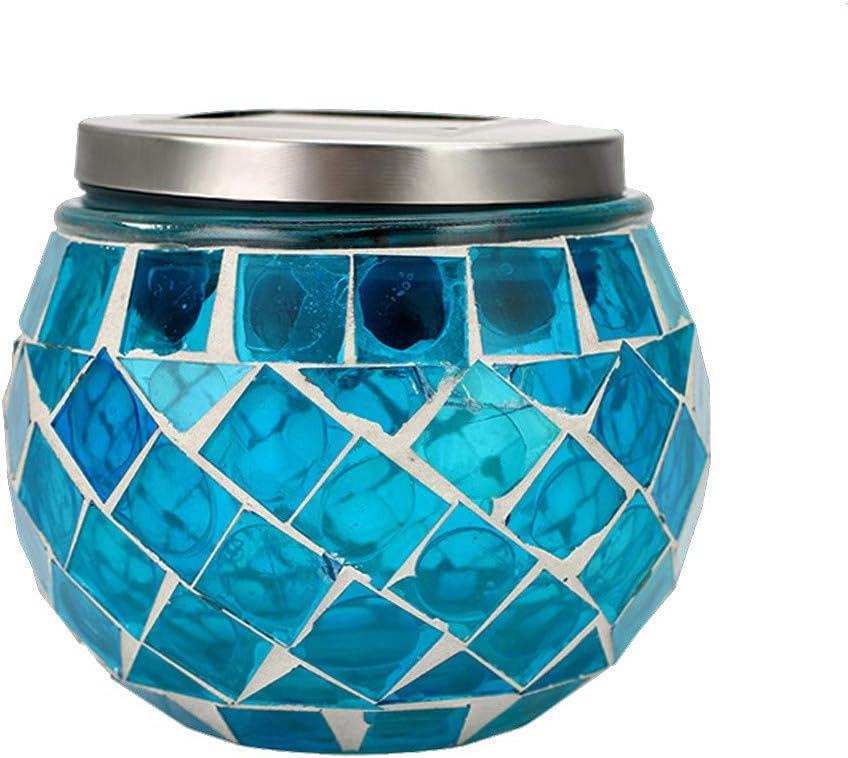 TAOtTAO - Lámpara Solar de jardín con Mosaico para Exteriores ...