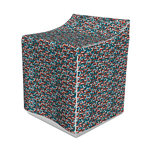 Ambesonne Geometric Washer Cover, Random Stripes Triangle Shapes Mosaic Ornament Fractal Look Contemporary Design, Decorative Accent for Laundromats, 29