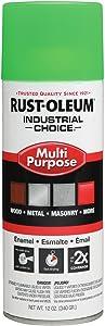 Industrial Spray Paint, Fluor, Green, 12oz