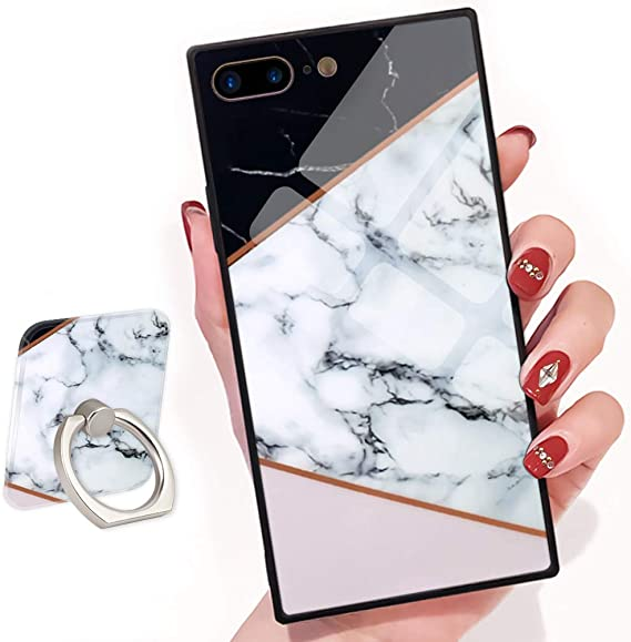 IPhone 7 Plus Phone Case Square Marble
