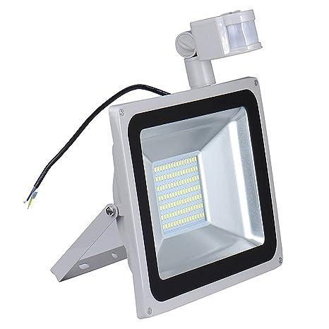 lámpara con el proyector de pared detector de movimiento exterior 100W IP65 220V aluminio LED reflector