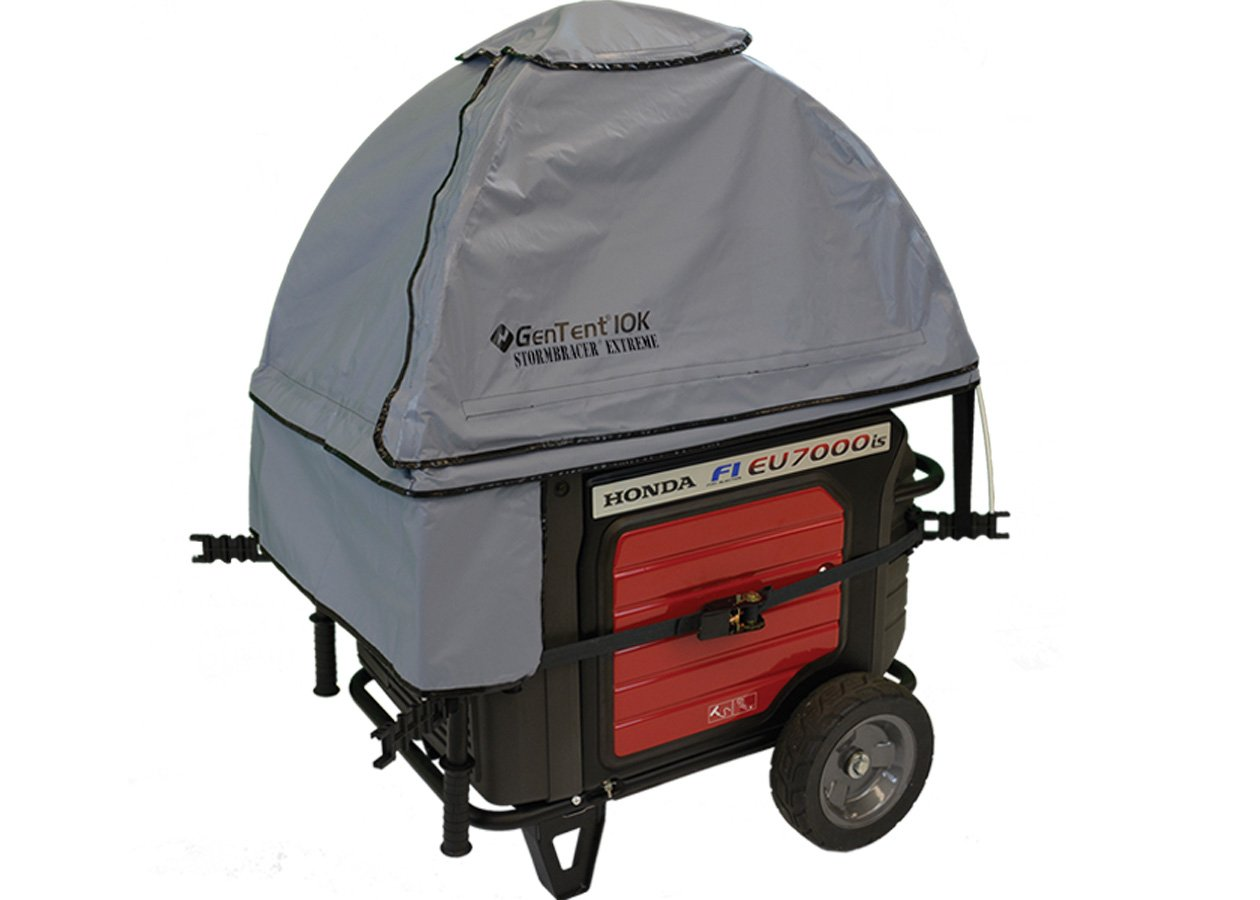 GenTent 10K Generator Tent Running Cover - XKU Kit (Extreme, GreySkies) - Compatible with 3000w+ Inverter Generators