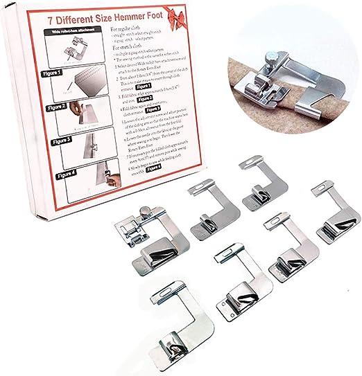 YEQIN - Juego de 7 prensatelas para máquina de coser con ...