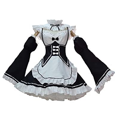Amazon.com  Anshuo Japanese Anime Cosplay Lolita Princess Maid Costume for  Women and Girls  Clothing 5848e9ffb