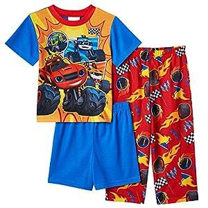 Nickelodeon Toddler Boys' Blaze 3-Piece Pajama Set