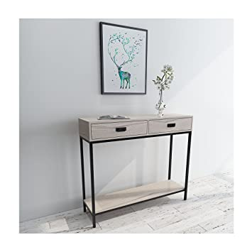 Amazoncom Roomfitters 2Drawer Console Table Low Display Shelf