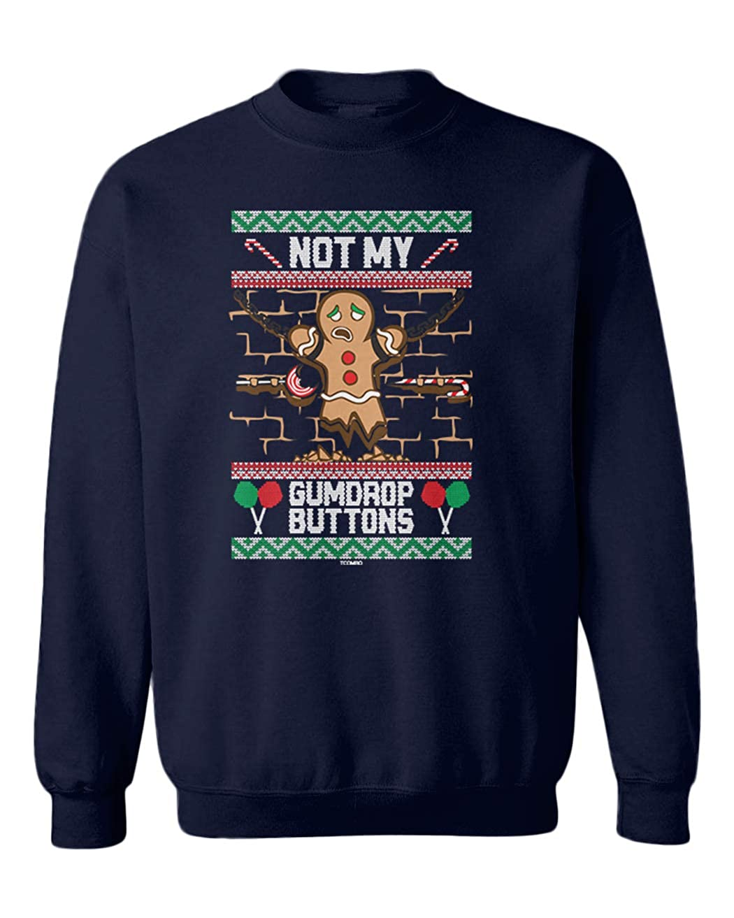 Funny Youth Fleece Crewneck Sweater Not My Gum Drop Buttons