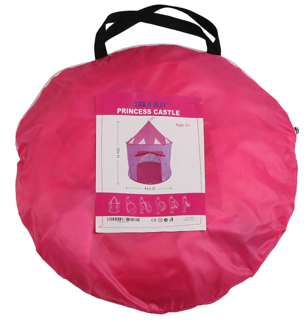 Click N' Play Girl's Princess Castle Play Tent, Pink