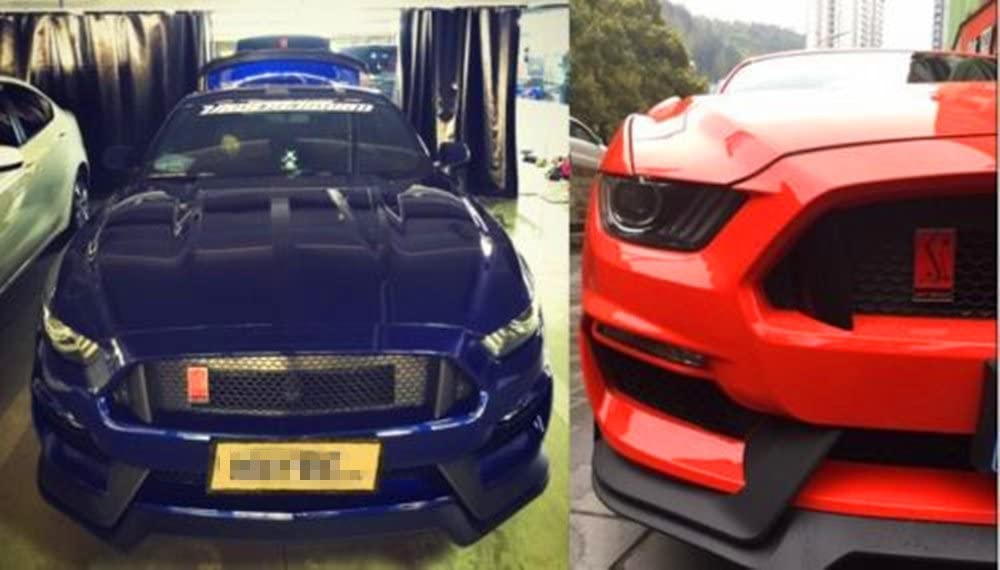 Silver YOCTM Car Styling Accessories Shelby GT350 3D Cobra Car Auto Front Hood Grille Emblem Sticker For Ford Mustang