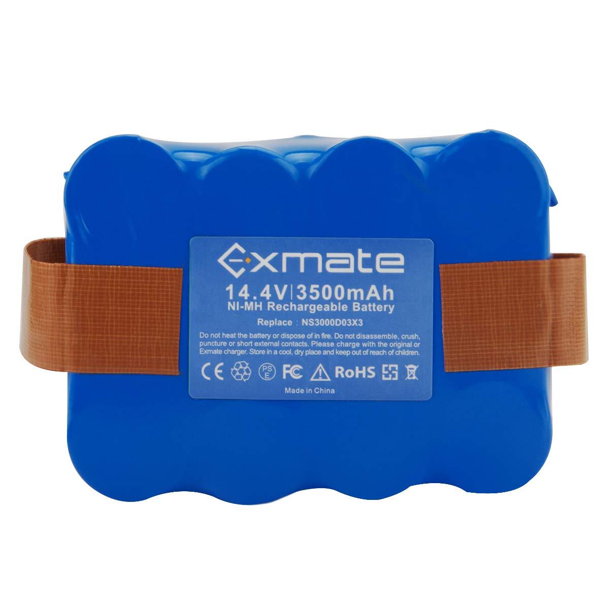 Exmate 14.4V 3500mAh Ni-MH Batería de repuesto para M-Robot ...