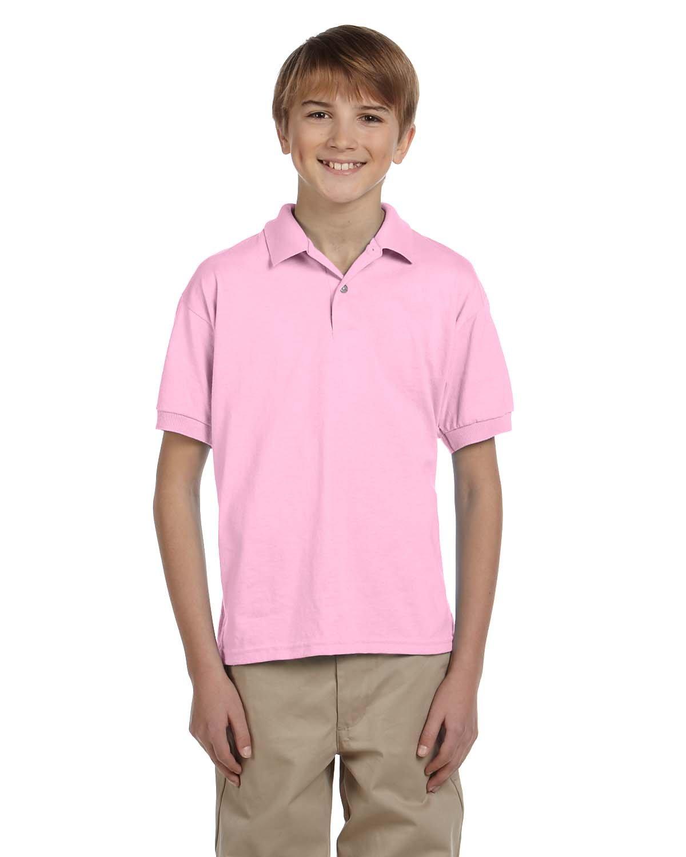 Gildan Boys 5.6 oz. DryBlend 50/50 Jersey Polo (G880B) -Light Pink -XL-12PK
