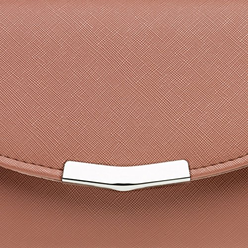 Bag Elegant CASPAR Chain TA360 Evening Long Detachable Clutch Ladies Dusky Envelope Pink with nqUxU0HwX
