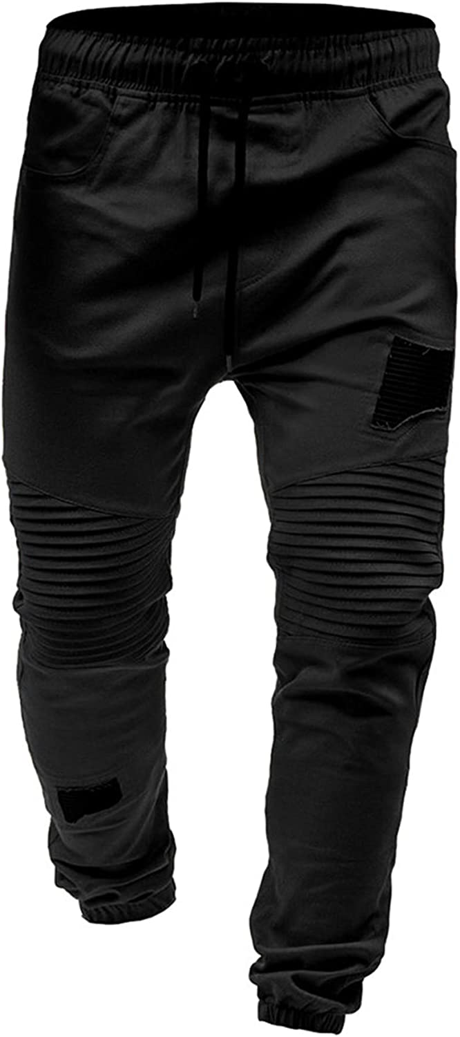 Mens Cargo Pants Slim Fit Casual Jogger Pant Chino Trousers Sweatpants Gym Workout Running Hiking Sweatpants