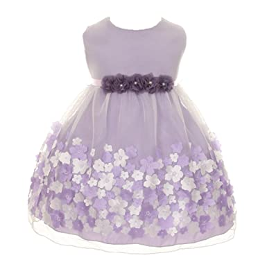 274b1f488 Amazon.com  Kid s Dream Baby Girls Lavender Taffeta Flowers ...