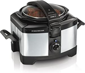 Hamilton Beach 33540A Connectables Slow Cooker, Silver, 4 quarts