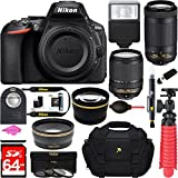 Nikon D5600 24.2MP DX-Format DSLR Camera + AF-S 18-140mm & 70-300mm ED VR Lens + Accessory Bundle PLUS MUCH MORE FREE ACCESSORIES USA RETAIL KIT