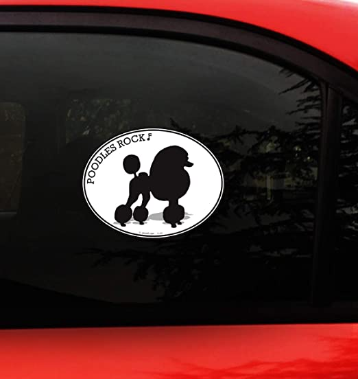 Poodle Dad High Quality Vinyl Standard Poodle Dog Window Decal Sticker Ebay