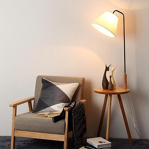 A Lámpara de pie minimalista moderna lámpara de mesita de noche de estilo europeo: Amazon.es: Hogar