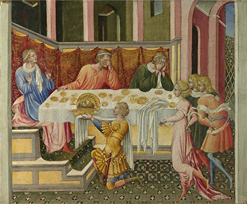 Insight Futon Cover (Oil Painting 'The Head Of John The Baptist Brought To Herod 1454, Giovanni Di Paolo' 18 x 22 inch / 46 x 55 cm , on High Definition HD canvas prints is for Gifts And Foyer, Home Theater And Ki decor)