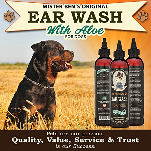 Mister Ben's MOST EFFECTIVE DOG EAR WASH Voted the Best Dog Ear Cleaner - Provides FAST RELIEF from Dog Ear Infections, Irritations, Itching, Odors, Bacteria, Mites, Fungus & Yeast by Mister Ben's (Image #5)