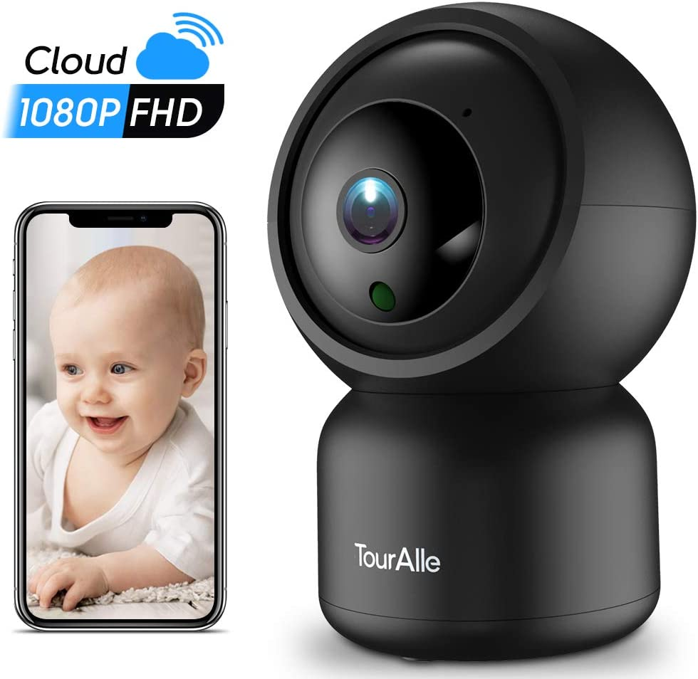 Home Security Camera – TourAlle 1080P Pet Dog Camera with Cloud Storage, Motion Detection Remote Monitoring, Two-way Audio Night Vision, 2.4Ghz Wifi Indoor Camer for IOS Android