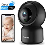 Pet Camera, TourAlle 1080P Home Security Camera Indoor Baby Camera w/ 360°Pan&Tilt, Motion Tracking&Instant Alarm, Encrypted Cloud, 2-Way Audio & Night Vision, 2.4Ghz WiFi Dog Camera with Phone App