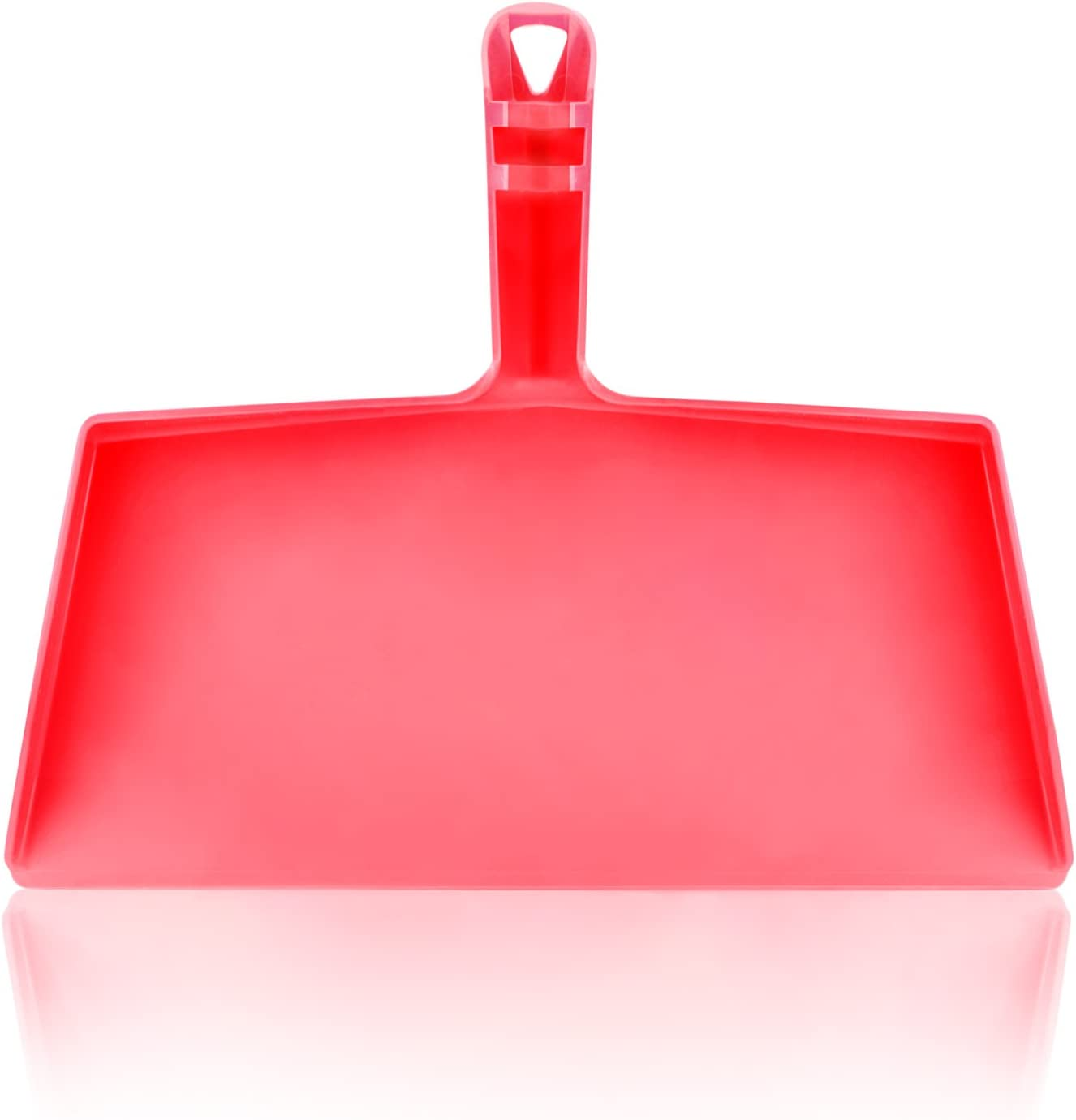 "Fuller Brush Fiesta Red Clip-On Dustpan - 10 ½"" Wide Opening – Durable Plastic Clip-On Handle Dust Pan with Easy Grip - Quick Clean Up for Home & Kitchen"