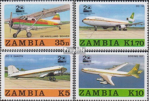 Sambia 425-428 (complete.issue.) 1987 Airline Zambia airways (Stamps for collectors) - Airway Complete