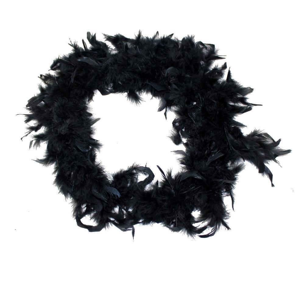 Ubrand Fancy Dress Feather Boa 150Cm Black Burlesque Showgirl Hen Night EMODE252475970534