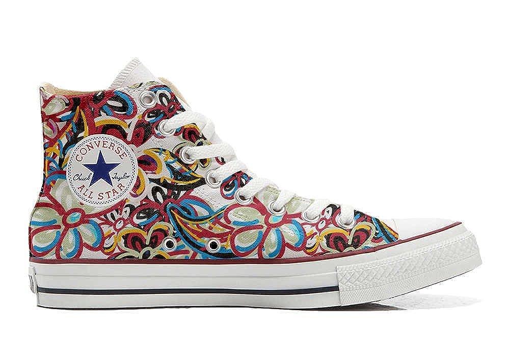 Acquista Converse Personalizzate all Star Sneaker Unisex (Scarpa Artigianale) Floreal Abstract miglior prezzo offerta