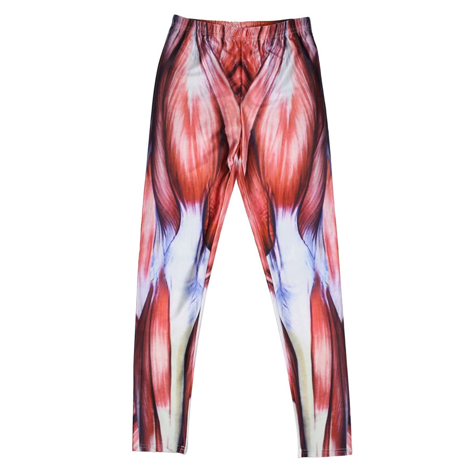 Amazon.com: Women Muscle Pattern Thick Stretch Leggings Tights ...