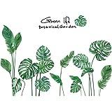 Amaonm Creative Girls Nursery Room Wall Decoration art Decor Decals 3D DIY Green Plants Fresh Leaves Peel Stick Wall…