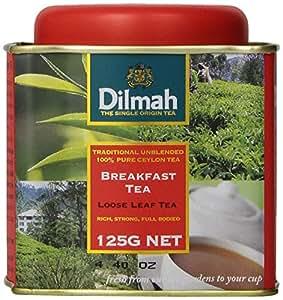 Dilmah Tea, Breakfast Tea, Loose Leaf, 4.4-Ounce Tins (Pack of 3)