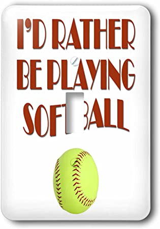 I/'D RATHER BE PLAYING SOFTBALL soft ball License Plate Frame