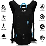 OUTDOOR LOCAL LION 10L Zaino Idratazione Ultraleggero per Alpinismo Escursionismo Zainetto per Ciclismo Backpack di campeggio Sport Outdoor Unisex per Ciclismo,nero