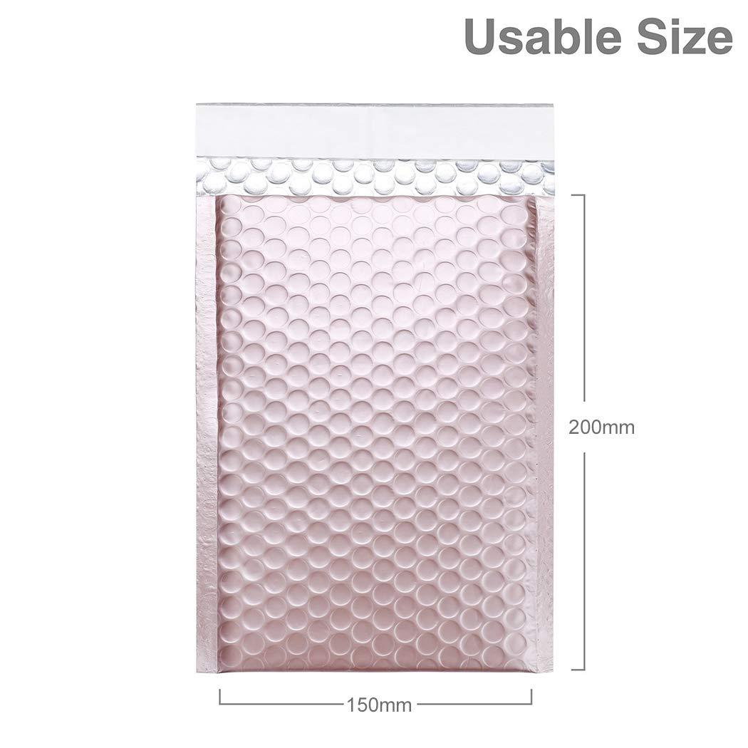 Justdolife 20PCS Bubble Mailer Self Seal Shockproof Padded Envelopes Shipping Envelope Bag